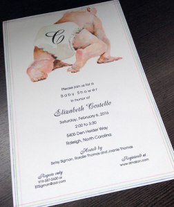 Baby Shower Invitation with Cute Baby