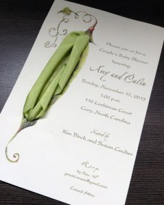 Baby Shower Invitation with Sweet Peas