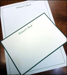 Personalized William Arthur Stationery