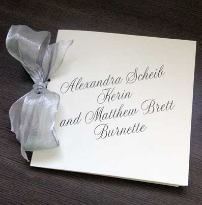 Customized Wedding Program