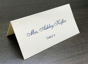 Wedding Reception Place Card