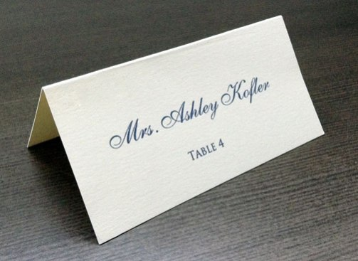 Wedding Reception Place Card