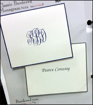 Personalized Stationery by Embossed Graphics
