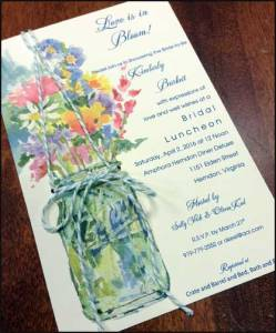 Bridal Luncheon Party Invitation with String embellishment