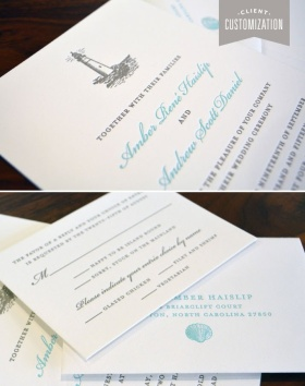 Customized Letter Press Wedding Invitation