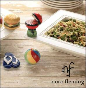 Nora Fleming Platters with Minis.