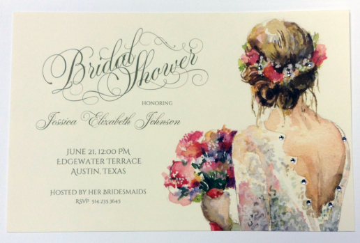 Bridal Shower Invitation with Vintage Charm