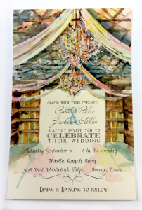Rehearsal or Party Invitation with Crystal Embellishments