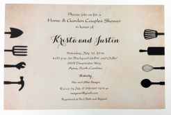 Home and Garden Couples Shower Invitation
