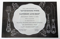 Chalkboard Rehearsal Dinner invitation