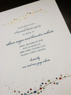 Sample of Rehearsal Dinner Invitation