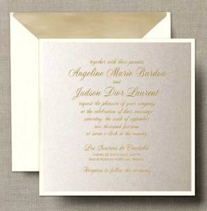Classic Square Layered Save the Date with Lined Envelope